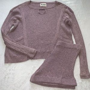 FOR LOVE AND LEMONS KNITZ SWEATER AND SHORT SIZE L